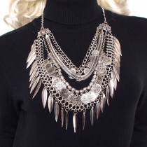 Bohemia Gypsy Beachy Chic Maxi Necklaces Layered Vintage Chain Carving Coin Leaves Beach Statement Long Necklaces & Pendants
