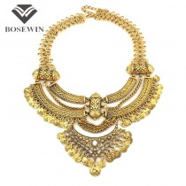 Women Vintage Big Necklaces Chunky Chain Chokers Coins Bib Statement Necklaces & Pendants Fashion Jewelry Maxi Colar 2016 CE3517