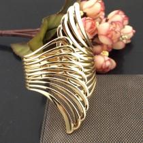 2015 Hot Sale Fashion Punk Women Charm Jewelry Metal Gold plated Wrap Bracelets Opened Cuff Bangles Fashion Accessories BL354