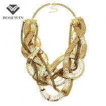 Boho Design Graceful Chain Claw Style Collar Bib Necklace Costume Jewelry Women Unique Design Chokers Statement Necklaces Maxi