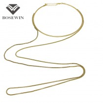 Women Neck Bib Torques Long Necklaces Gold Popcorn Chain Statement Necklaces & Pendants Jewelry Vintage Accessories CE2868