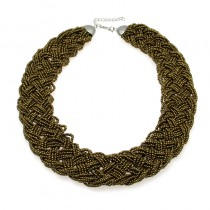 Vintage Beaded Handmade Chunky Chain Bib Choker Collar Statement Necklace Boho Ethnic Style Maxi Necklaces For Women 2016 CE2694