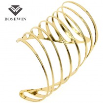 Fashion Clothes Jewelry Rotate Alloy Opened Graceful Cuff Bangles Bracelets Unique Designer Bijoux BL232