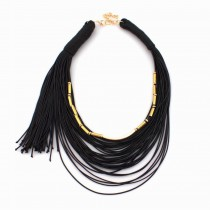 Fashion Necklaces For Women 2016 Boho Unique Design String Chain Choker Collares Statement Necklaces Handmade Jewelry CE2715