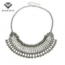 Fashion Carving Coins Flower Ball Long Pendant Chokers Vintage Statement Necklaces Bohemian Maxi Jewelry CE2522