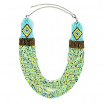 Boho Handmade Long Necklace Women Multicolors Beads Cluster Wide Statement Necklaces & Pendants For Travel Gifts CE2276