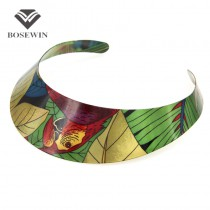 Ethnic Country Style Hi-Q Painting Design Torques Charm Chokers Necklaces Statement Jewelry For Women Dress Fashion Collar