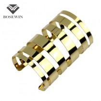 Hollow Design Gold Bracelets Manchette Statement Jewelry Fashion Open Cuff Bangles Bracelets For Women Wrap Hand Bijoux BL081