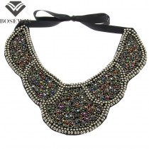 Women Fake Collar Vintage Beads Maxi Necklace Fashion Accessories Bohemia Statement Choker Necklaces For Women Dress CE2980