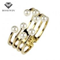 Fashion Cuff Bracelets For Women 2016 Charm Accessories Imitation Pearl Bangles & Bracelets Manchette Statement Jewelry BL245