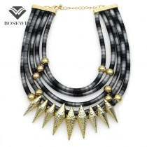 Indian Multilayer Bib Collar Vintage Maxi Necklace Women New Statement Jewelry Neon Multicolor Big Choker Accessories CE4047