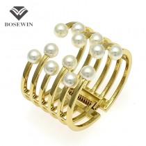 2016 Fashion Women Bracelets Charm Accessories Imitation Pearl Cuff Bangles Bracelets Manchette Statement Jewelry Pulseiras Gift