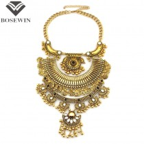 2015 New Fashion Accessories Women Big Jewelry Exaggerated Bohemia Vintage Alloy Chokers Statement Necklaces CE3467