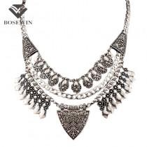 Bohemia Chic Design Fashion Necklaces For Women 2016 Vintage Carving Alloy Choker Statement Necklaces & Pendants Collares CE2882