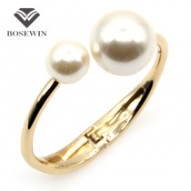Fashion Charm Bracelets For Women Wholesale Clothes Accessories Simulated Pearl Cuff Bangles Wholesale Gift Jewelry pulseiras