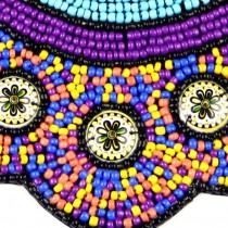 Bohemia Style Multicolor Statement Necklace Fashion Choker Imitation Ceramic Bead Collar Necklace For Women Accessories CE3363