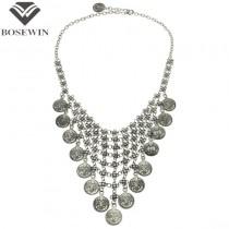 Fashion Necklaces For Women Multilayer Design Coins Vintage Collar Chokers Statement Long Necklaces & Pendants CE2729