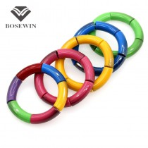 Hot Fashion Jewelry Shining Acrylic Elastic Strand Charm Bracelets Bangles Women 12 Colors DIY Matches Accessories Gift BL235