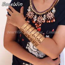 2015 New Hi-Q Fashion Accessories 120mm Length Women Opened Alloy Cuff Bangles Bracelet Exaggerated Jewelry BL164