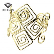 New Gothic Design Statement Jewelry Fashion Gold Alloy Armlet Opened Arm Bangles Bracelets For Women Party Dress BL171