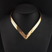 North Africa Popular Torques Collar Chokers Fashion 3 Layer Bright Metal Weld Bib Women Necklaces 2016 Statement Jewelry CE2524