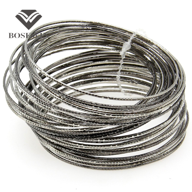Fashion Multi-tiered Design Many Silver Plated Metal Hoop Cuff Bangles Women Charm Bracelets Vintage Costume Jewellery BL238