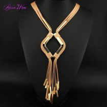 Designer Handmade Necklace Fashion Jewelry Women Accessories Cluster Strip Alloy Tassel Pendants Statement Necklaces Bijoux