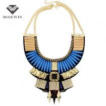 5 Colors Boho Design Women Collar Necklaces 2016 Fashion Gold Chain Acrylic Bead Chokers Statement Necklaces Vintage CE2939