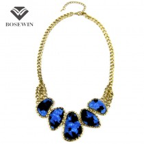 Top Sell Items Vintage Chunky Chains Bib Statement Chokers Necklaces Fashion Collars For Women Dress CE613