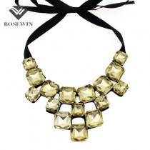 3 Colors Glass Rhinestone Collar Necklaces Women 2016 Statement Jewelry Fashion Bib Choker Necklace Dress Bijouterie CE3194