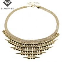 Bohemia Chic Design Fashion Necklaces For Women 2015 Punk Bubble Chain Rivet Bib Collars Chokers Statement Necklaces CE2817