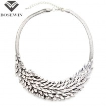 Vintage Chunky Chain Multilayer Metal Squama Collar Chokers Necklace Women Statement Necklaces & Pendants Maxi Jewelry CE1683