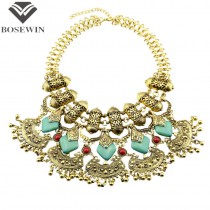 Latest Exaggerated Maxi Necklace Women Big Jewelry Vintage Chunky Chain Bohemia Statement Necklaces & Pendants Collier