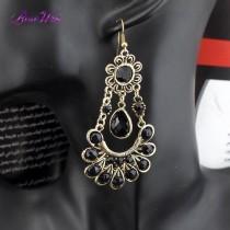 Boho Vintage Jewelry Antique bronze Metal Drop Peacock Dangle Earrings For Women 2016 brincos pendientes Fashion Accessories