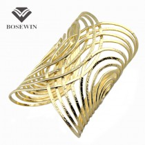 Hot Sale Western style Wild Cuff Bangles With Hi-Q plated Crossed Metals Romantic Bracelets & Bangles For Women Jewelry BL027