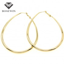 Fashion Female Jewelry 65*50mm Alloy Hoop Earrings Statement Jewelry For Women 2016 Costume Accessories FE043