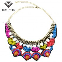New Exaggerated Punk Women Multilayer Jewelry Fashion Multicolor Acrylic Resins Pendants Chokers Collars Necklaces CE3355