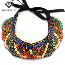 Hot Item Cute All-match Style Choker Necklace Fashion Colorful Beads Collar For Women Factory price CE658